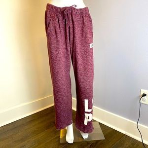 Victoria's Secret PINK Burgundy Sweatpants